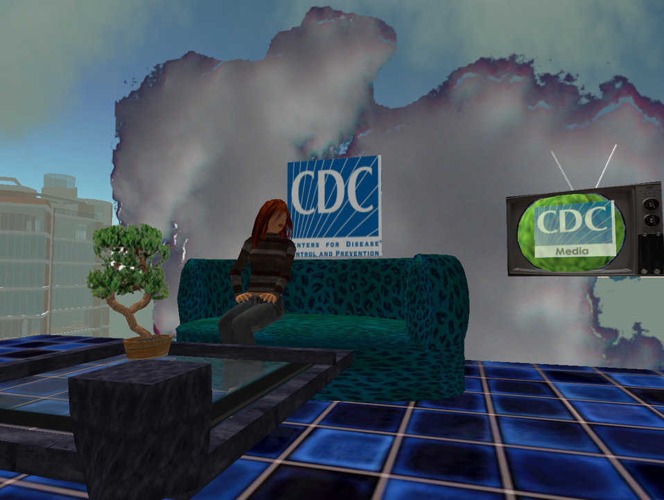 CDC's presence in the online virtual world 'Second Life' launched in August, 2006. Dr. John Anderton designed the initial CDC space using in
