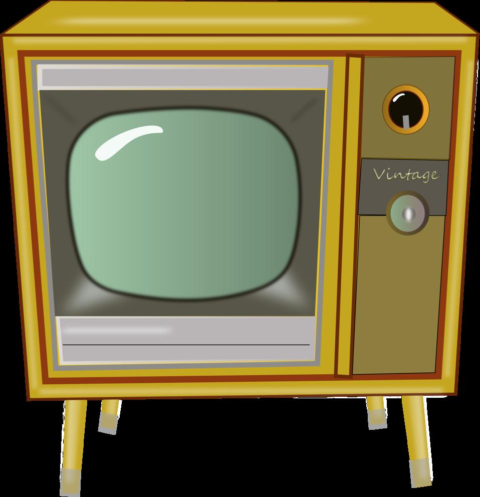 Public Domain Clip Art Image | Vintage TV | ID