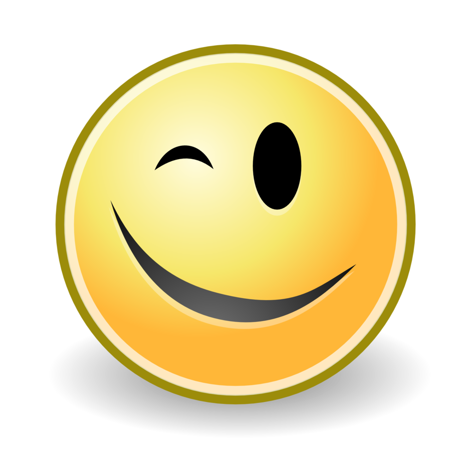 Public Domain Clip Art Image | tango face wink | ID: 13540060811311 ...