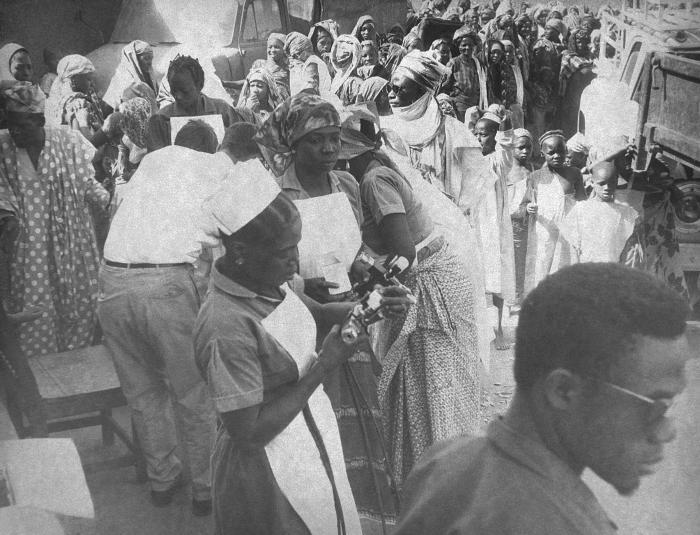 This image was captured during Nigeria's Smallpox Eradication Program activities, 1968.