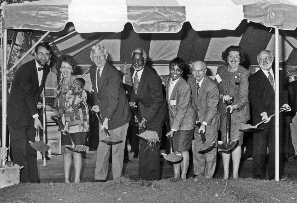 This early 1990s photograph showed individuals who took part in a ground-breaking ceremony for new construction on Centers for Disease Contr