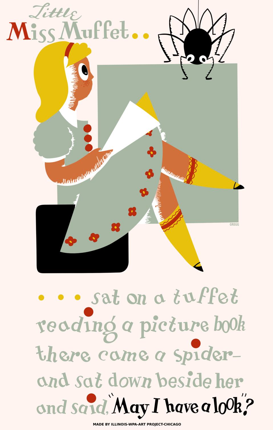 Little Miss Muffet Poster