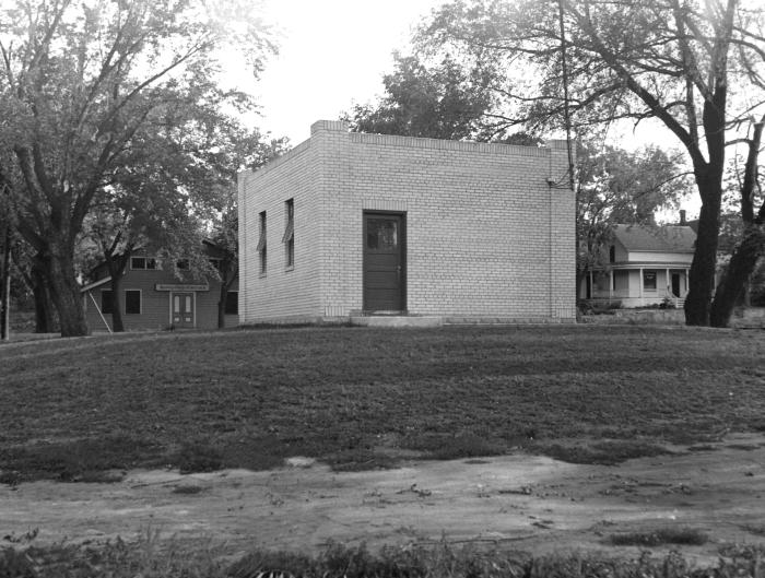 This historic 1934 image revealed the exterior of the Hastings, Minnesota municipal water supply's 'drilled' well pumping station, while PHI