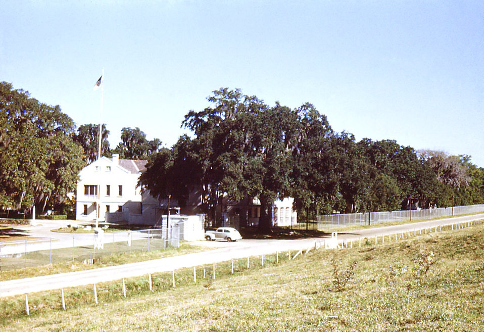 This was the entrance to the Carville, Louisiana Leprosarium where many a Hansen's disease (HD) patient entered, passing through this gate,