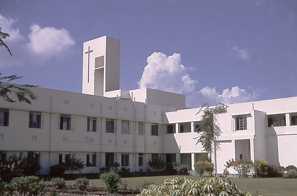 This is a 1964 photograph of the Holy Family Hospital in Dacca, East Pakistan.