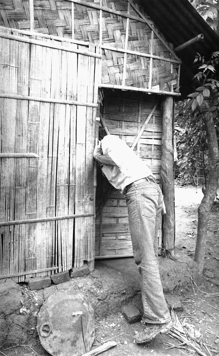 This Bangladesh smallpox eradication team epidemiologist was going from house to house in search of possible smallpox cases. Once a case was