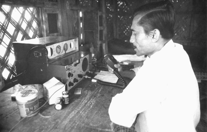 This Bangladesh man was communicating to field technicians over a network known as the 'Smallpox Zero Radio', which was an integral method o