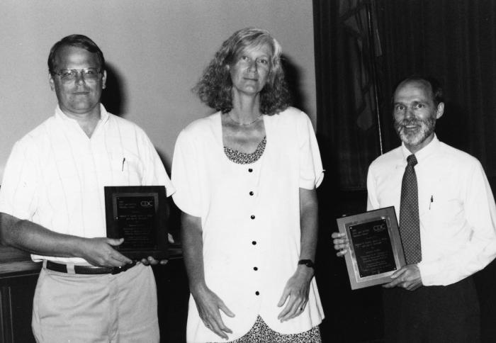 This photograph was taken during the presentation of the 1993 Centers for Disease Control's Statistical Achievement Awards ceremony.