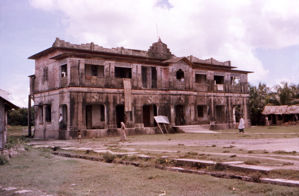This October, 1975 photograph depicted a view of a former Patuakhali District hospital, in the country of Bangladesh, which had been devista
