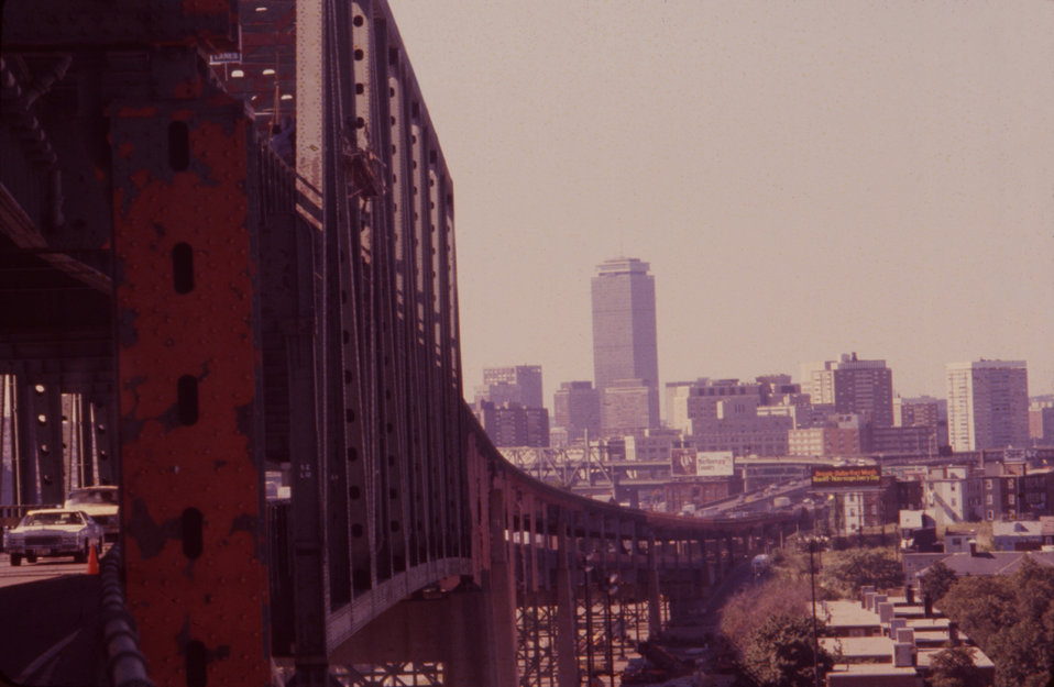 The Tobin Bridge in Boston, MA, shed flakes of lead-based paint onto subjacent neighborhoods and the Mystic River below.