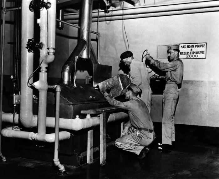 This historical 1943 image, which was provided by the Center for Disease Control's (CDC), National Institute for Occupational Safety and Hea