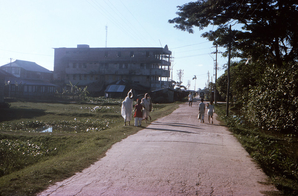 This October, 1975 photograph depicted the Hotel Bonanee, which was located on the outskirts of Patuakhali Town, in the Patuakhali District