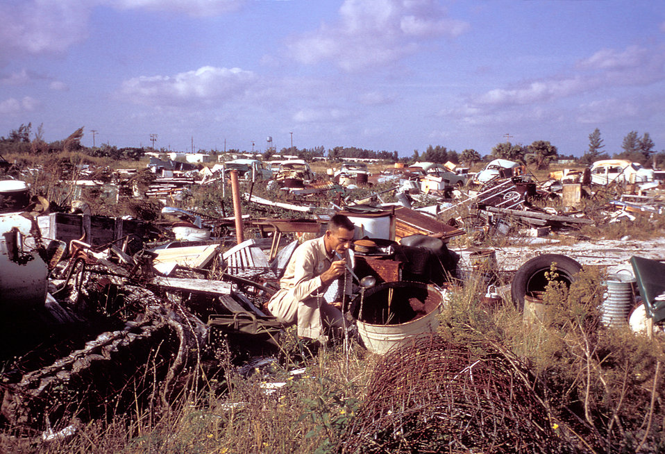 This photograph was taken during the 1965 Aedes Aegypti eradication program in Miami, Florida, 1965.