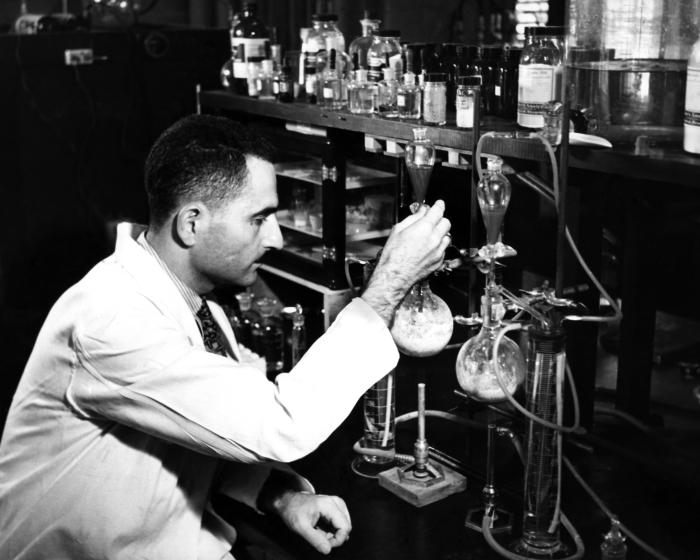 This November, 1943 photograph was provided by the Center for Disease Control's (CDC), National Institute for Occupational Safety and Health
