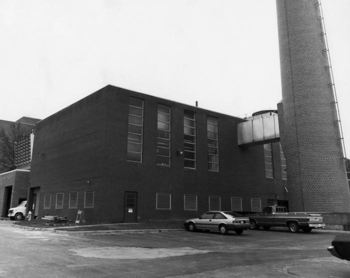 This historic photograph, taken sometime in the 1980s, shows one of the Centers for Disease Control  (CDC) power plants at the organization'