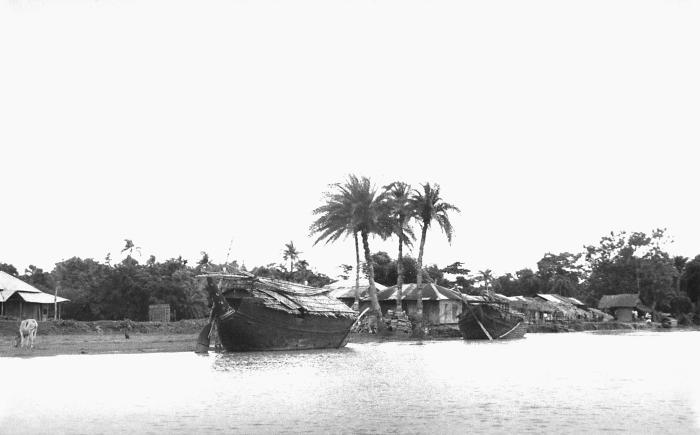 This was a large country boat that was anchored on the banks of a Bangladesh river. This photograph provided by Dr. Stan Foster, and capture