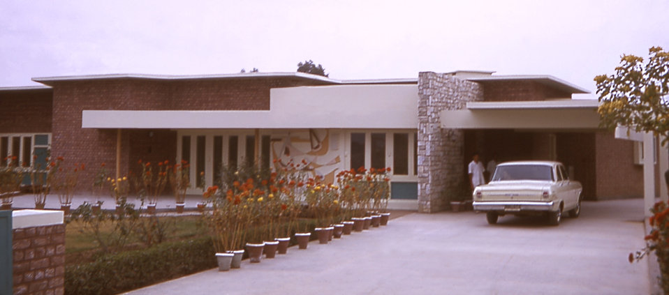 This was a 1964 photograph of the Woodward House in Lahore, West Pakistan, before the country became known as Pakistan in 1971.