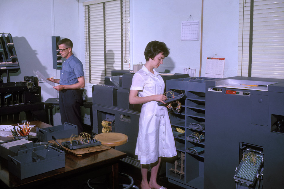 This 1962 photograph showed an unidentified man and woman from the Centers for Disease Control's Tuberculosis Branch while they were at work