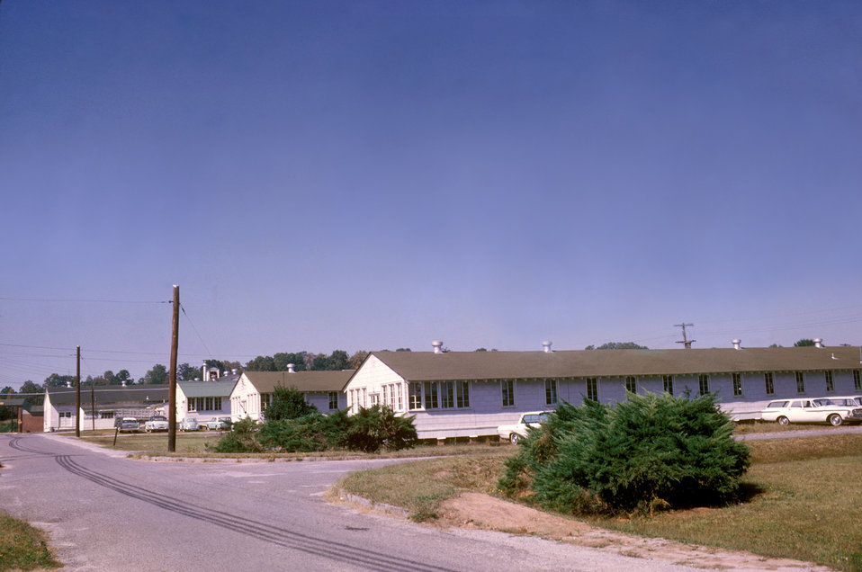 This 1963 photograph showed the exterior of several buildings on the Centers for Disease Control's Chamblee, Georgia campus.