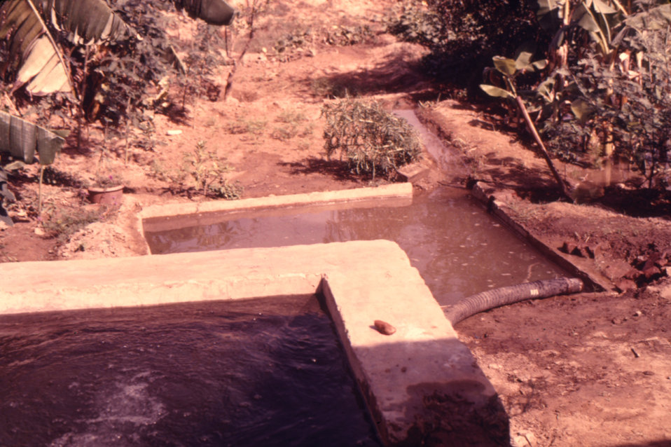 This 1974 image of an irrigation well was taken during a trip by CDC personnel to Northern India to study rhesus monkeys.