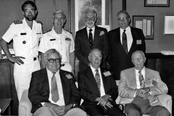 This 1992 photograph, taken during the CDC's 46th anniversary ceremony, features many of the former CDC directors.
