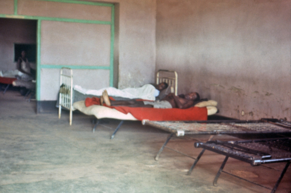 This photograph, taken by CDC's EIS officer Dr. Roy Baron, showed bedridden patients in a Sudanese hospital during the country's 1976 Ebola