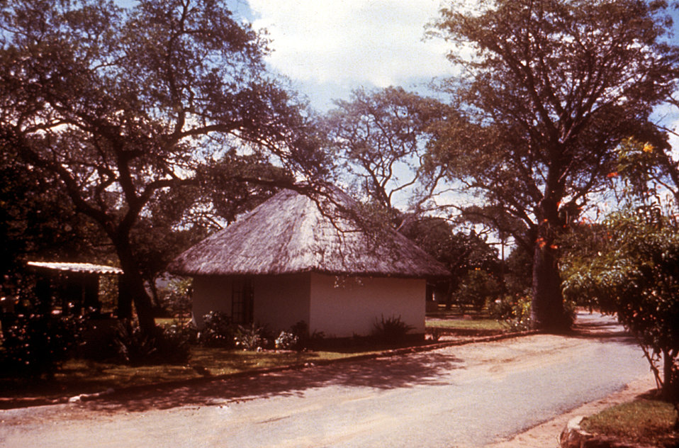 These rondavals, i.e., huts, were located at a Victoria Falls hotel in Rhodesia during a 1975 CDC Marburg virus investigation.
