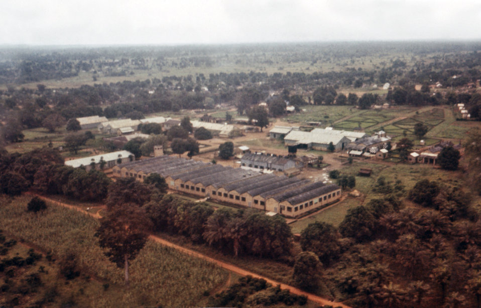 This photograph showed an aerial view of a cotton factory located in Nzara, Sudan where the earliest cases in the 1976 Sudan Ebola outbreak