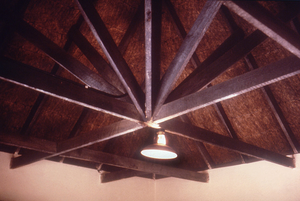 This was the ceiling of a rondaval, e.g., see PHIL ID# 6302, during a 1975 CDC South African Marburg virus investigation.