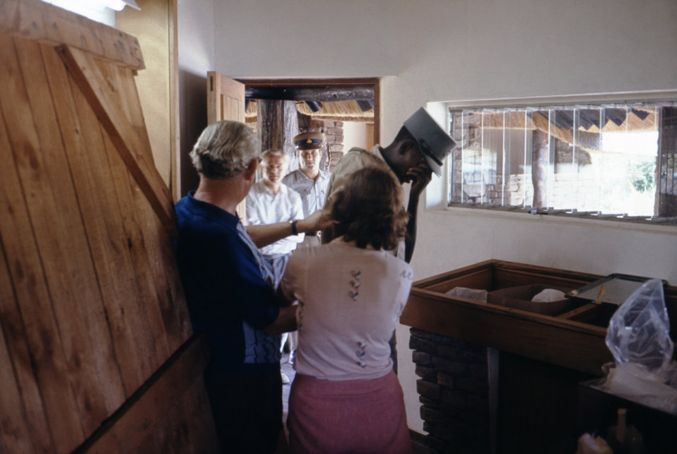These health officials were taking blood samples from Rhodesian police and railway/road workers during a 1975 Marburg outbreak.
