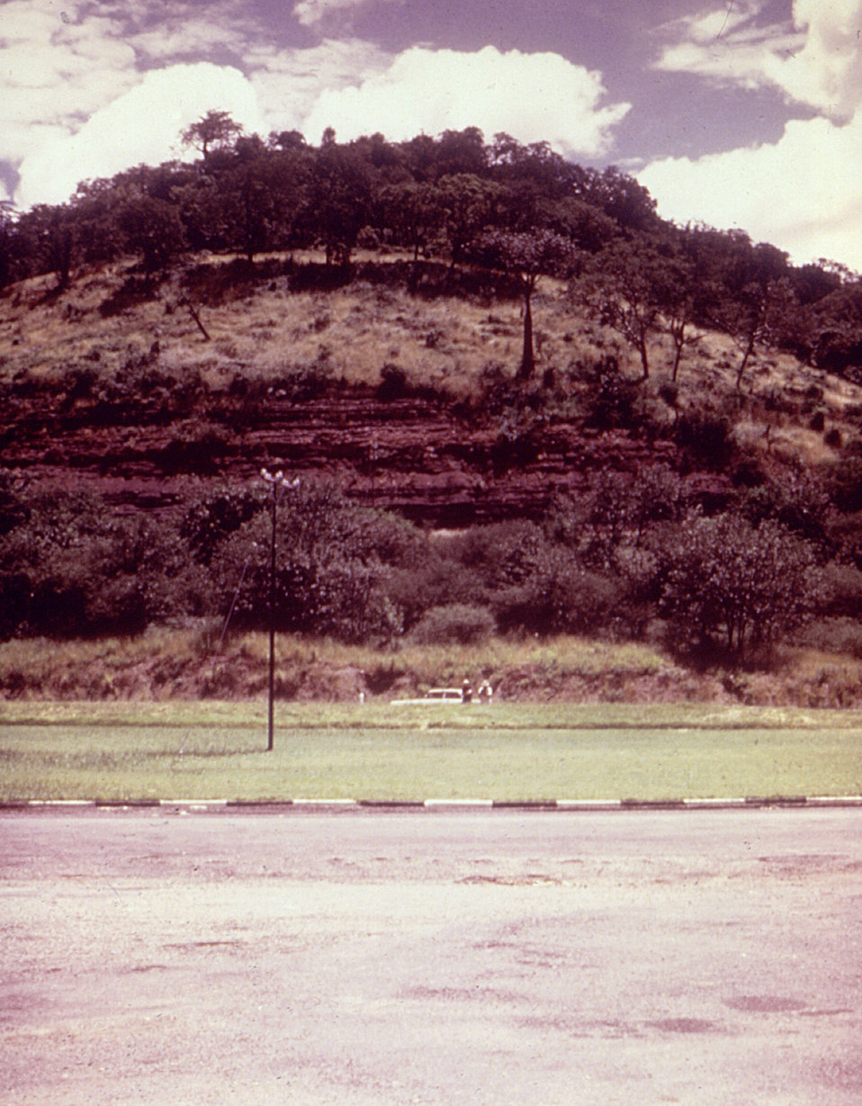 This Wankie, Rhodesia (now Zimbabwe) roadside location photograph was taken during a Marburg virus investigation in 1975.