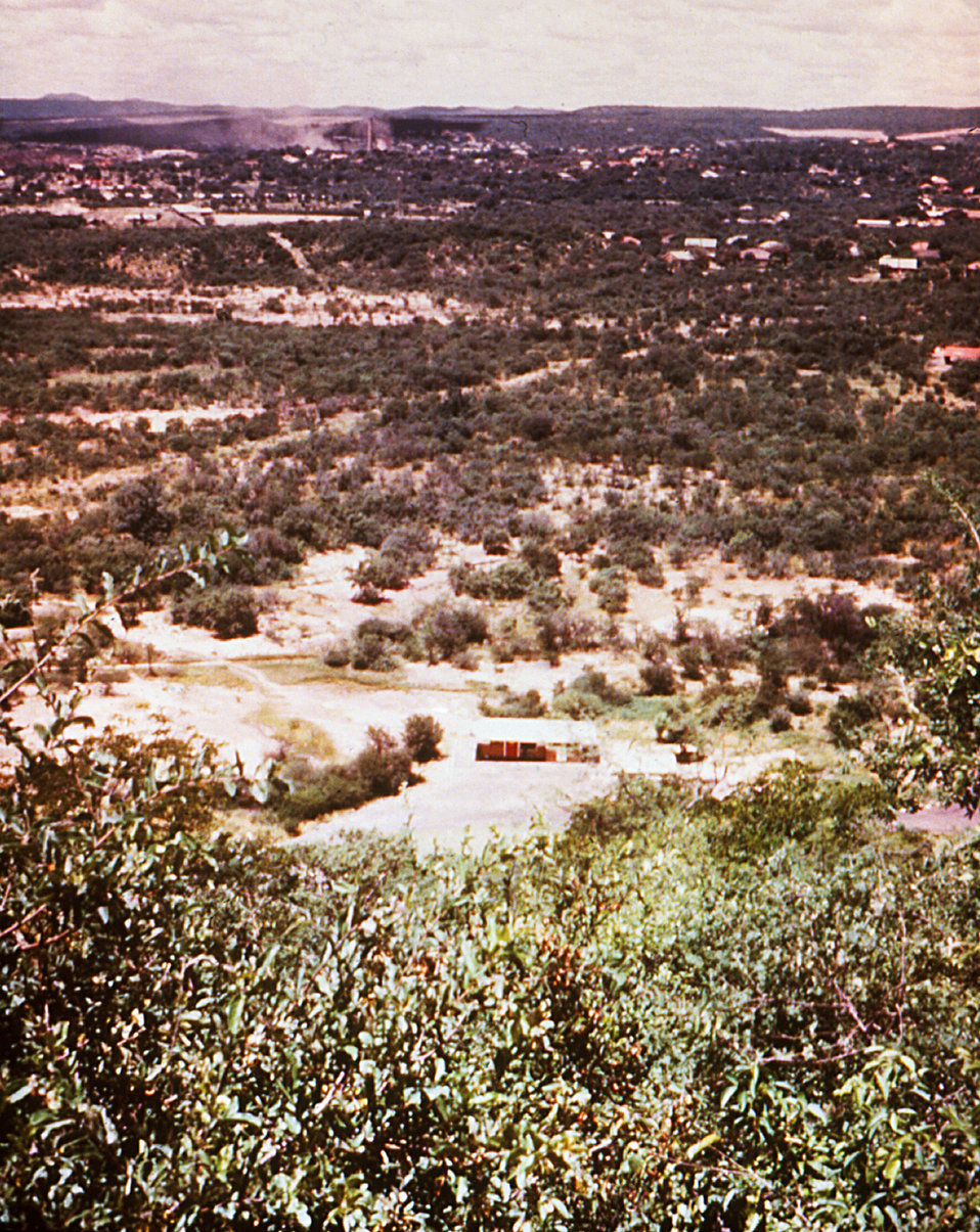 This Wankie, Rhodesian roadside (from above) is where a Marburg patient first came into contact with an unknown virus vector.