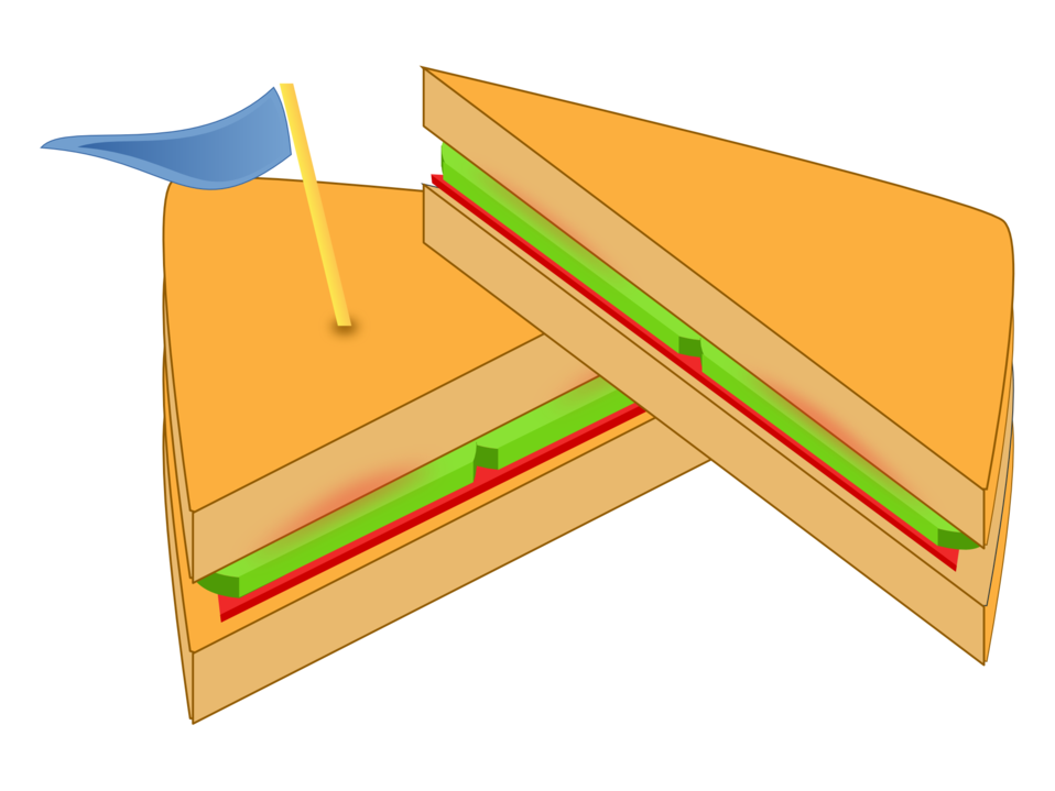 Sandwich with a Flag