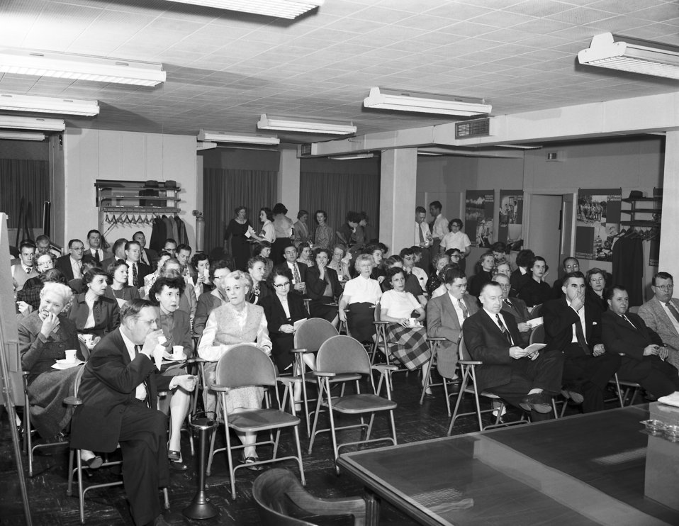 Photo of CDC Credit Union Meeting in 1955.