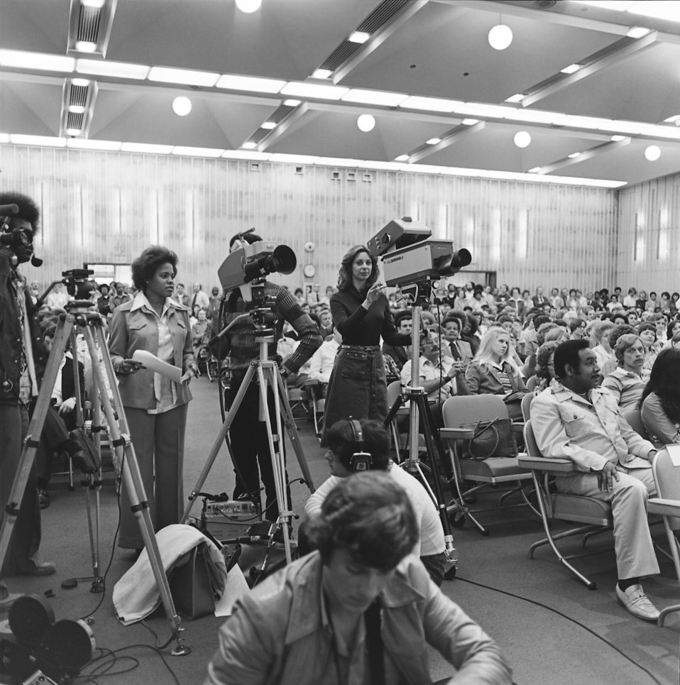 This 1977 photograph was taken during the naming of Dr. William H. Foege as Director-Designate of the CDC.
