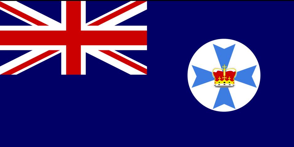 Flag of Queensland Australia