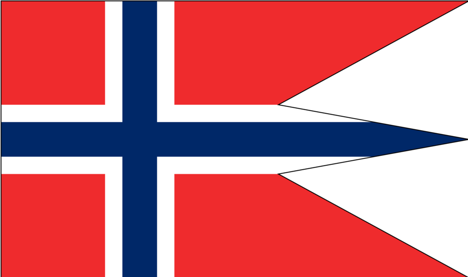 Norwegian state and war flag