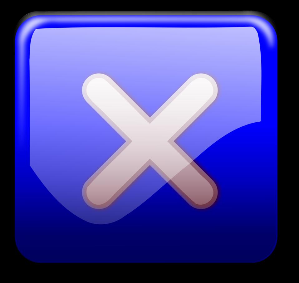 Close Button blue