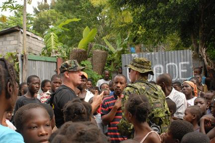 This image captured in the municipality of Ennery, Haiti, September 22, 2008, depicts U.S. Public Service (USPHS) Lt. Cmdr. Gary Brunette, a