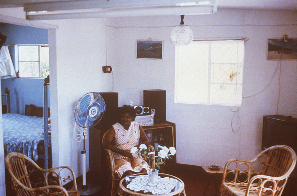 This typical Cite' Roche Bois, Mauritius home was photographed in 1980 during a typhoid outbreak investigation.