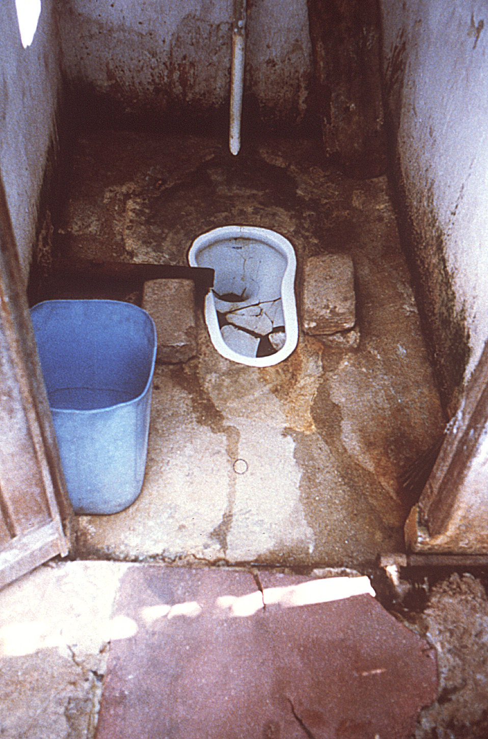 These were conditions inside the water closet of the index case residence during a Cite' Roche Bois, Mauritius typhoid outbreak.
