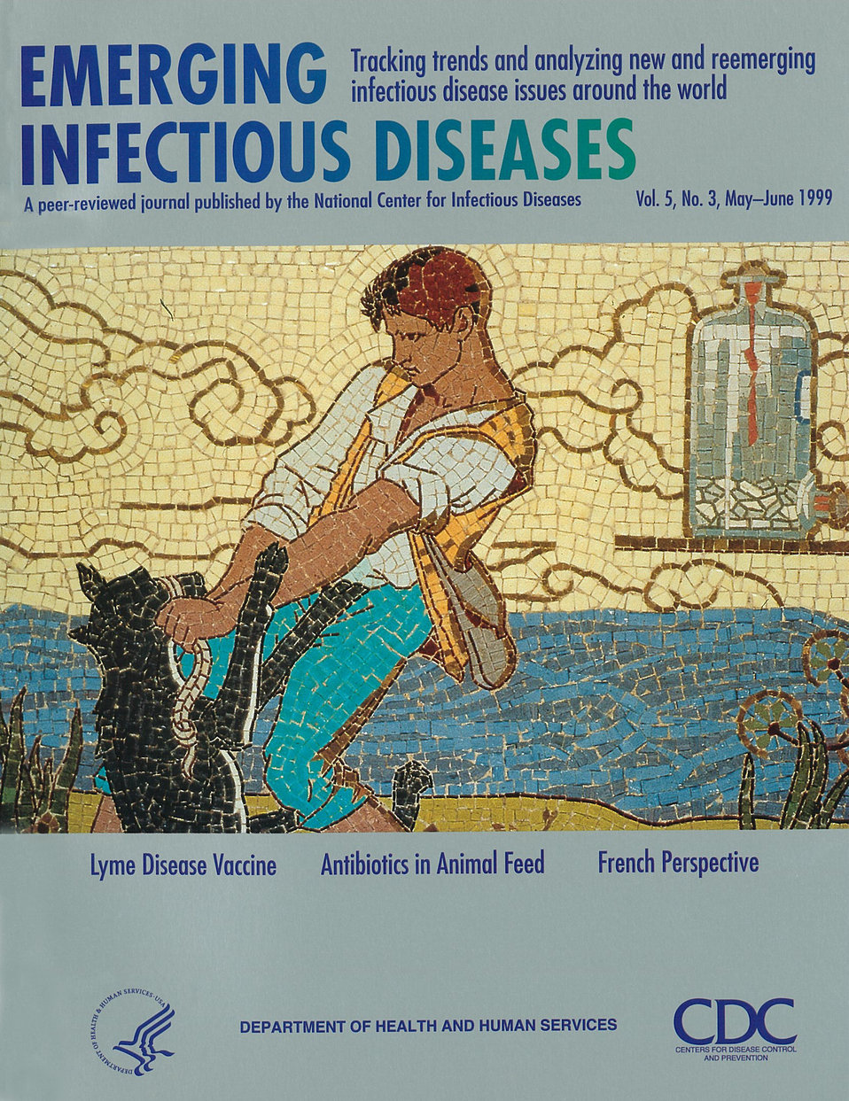 Emerging Infectious Diseases (EID) cover artwork for Volume 5, Number 3, May-June 1999 issue.