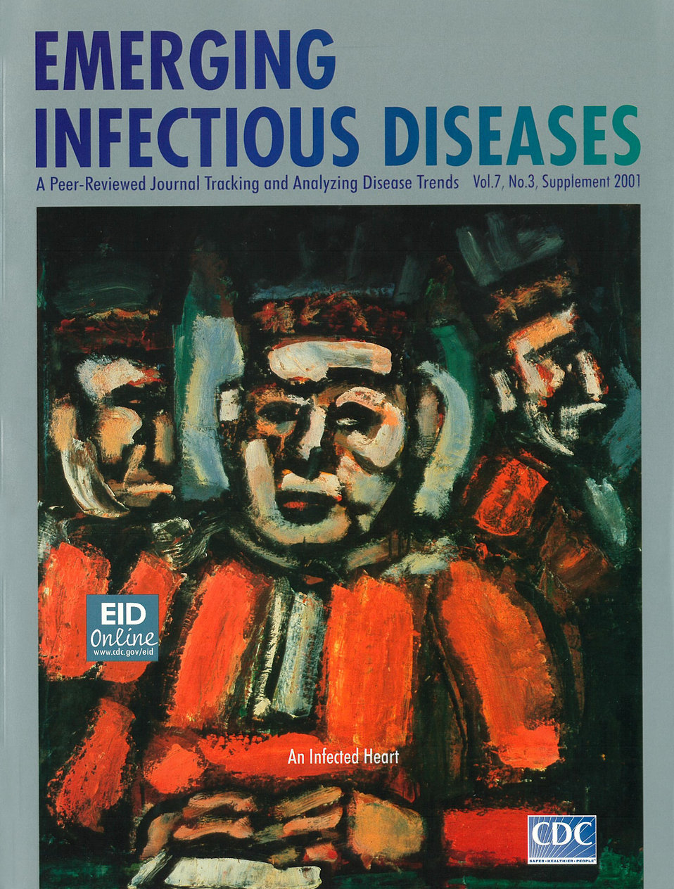 Emerging Infectious Diseases (EID) cover artwork for Volume 7, Number 3, Supplement 2001 issue.