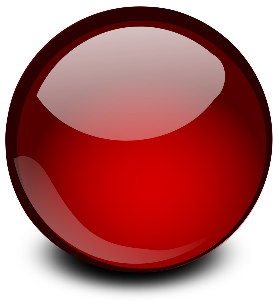 Red Glossy Orb