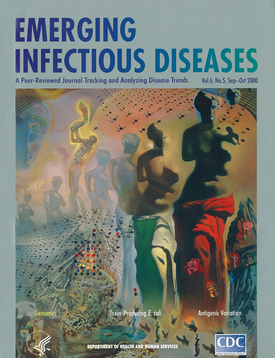 Emerging Infectious Diseases (EID) cover artwork for Volume 6, Number 5, September-October 2000 issue.