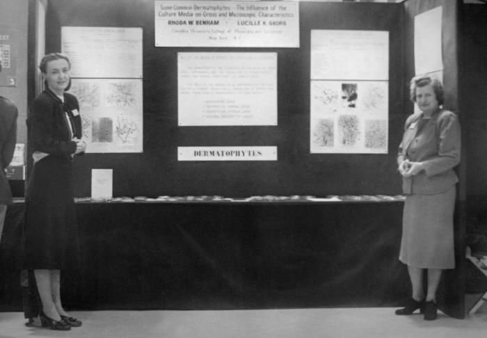 This historic image depicted Dr. Lucille K. Georg (Rt), who was the second mycologist hired by Centers for Disease Control's Dr. Ajello in 1