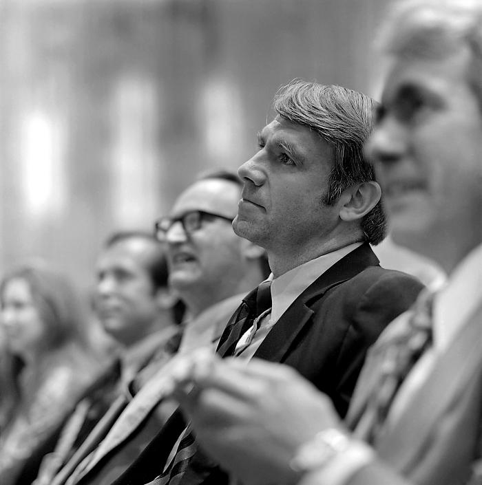 This April 5, 1977 photograph depicts former CDC Director William H. Foege, M.D., M.P.H., while he was seated at a ceremony in which he was