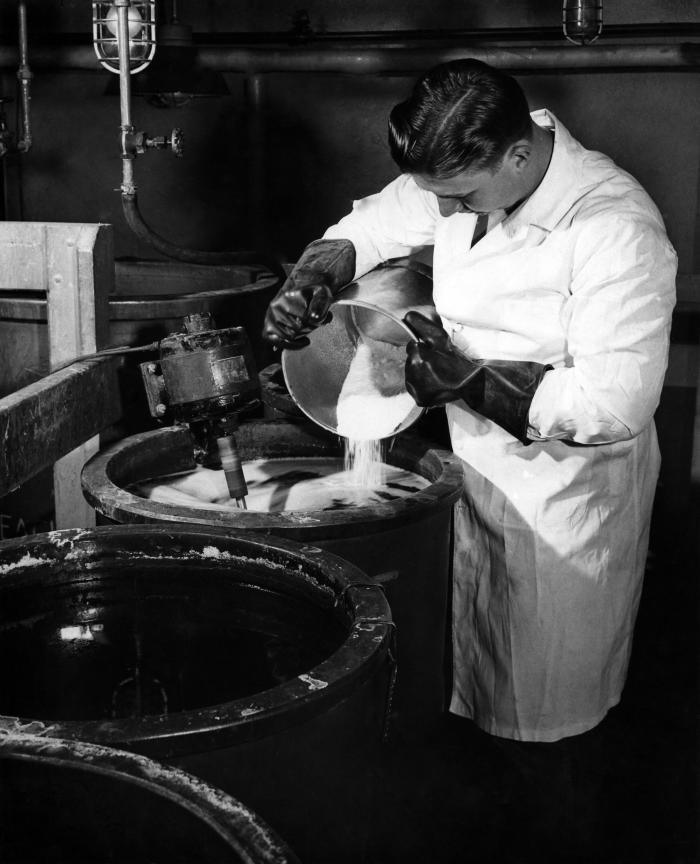 This historic image, provided by the Center for Disease Control's (CDC), National Institute for Occupational Safety and Health (NIOSH), depi