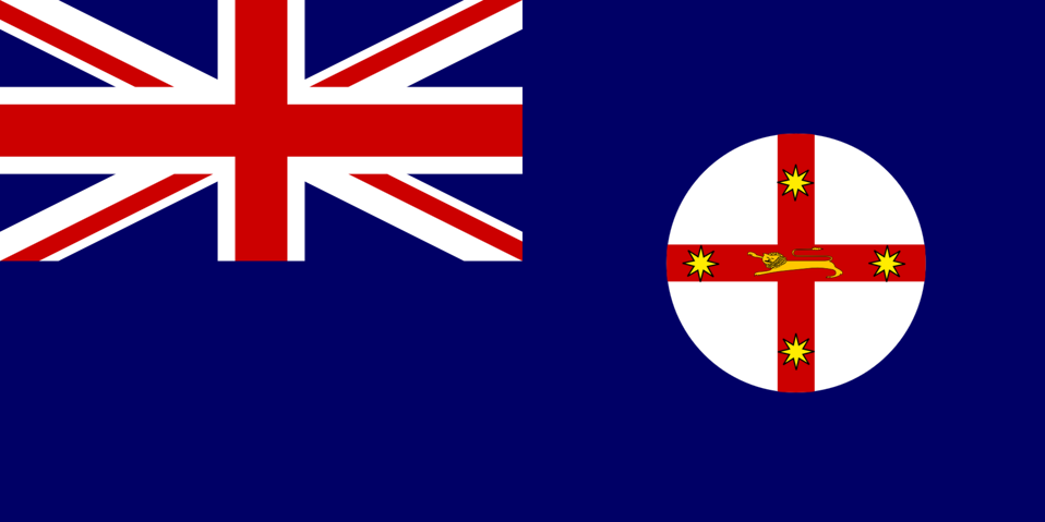 Flag of New South Wales Australia