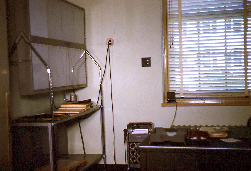 Depicted in this historic image was the office of the Carville, Louisiana Leprosarium's Executive Officer who was a medical doctor. Note the